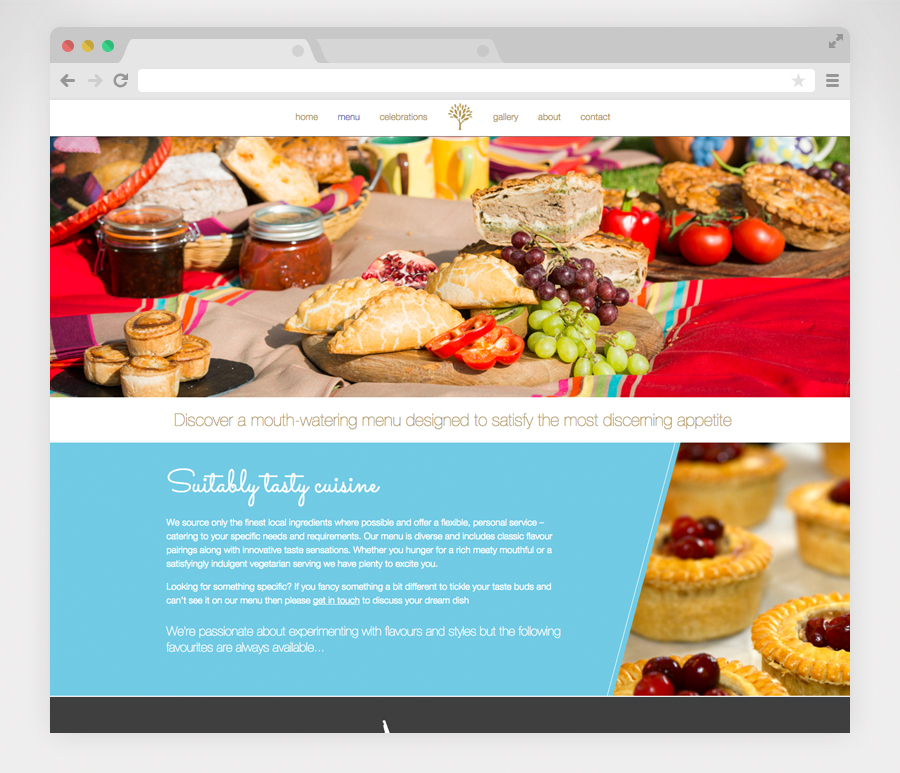 Website-menu-page